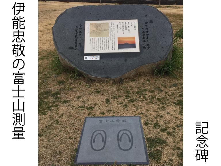 伊能忠敬の富士山測量記念碑